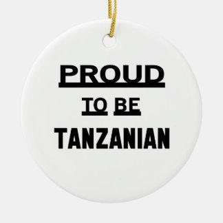 タンザニアがあること誇りを持った セラミックオーナメント