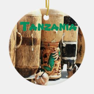 タンザニアのアフリカのボンゴのクリスマスのオーナメント セラミックオーナメント