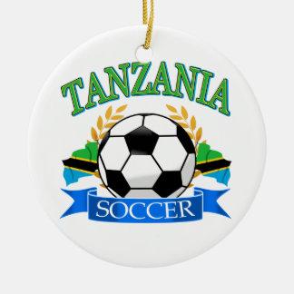 タンザニアのサッカーのデザイン セラミックオーナメント