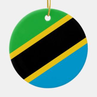 タンザニアの国民の世界の旗 セラミックオーナメント
