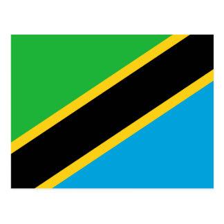 タンザニアの国民の世界の旗 ポストカード