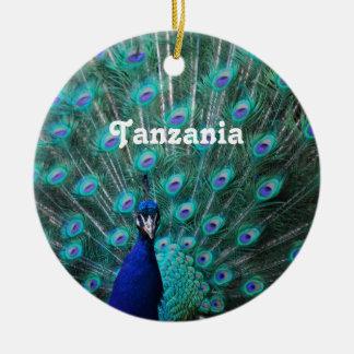 タンザニアの孔雀 セラミックオーナメント