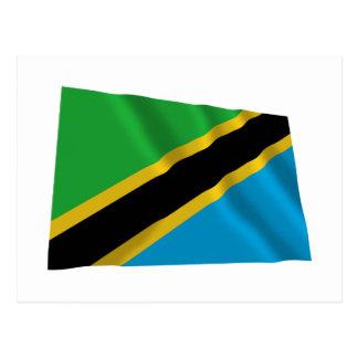 タンザニアの振る旗 ポストカード