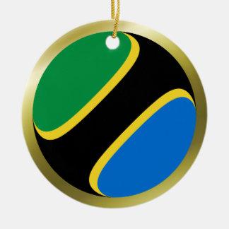 タンザニアの旗のオーナメント セラミックオーナメント