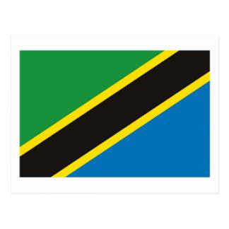 タンザニアの旗の郵便はがき ポストカード