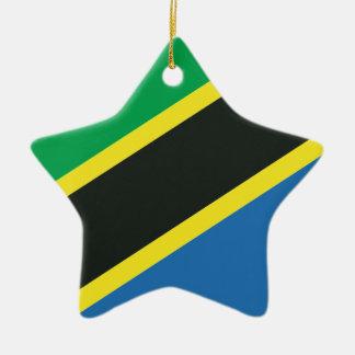 タンザニアの旗 セラミックオーナメント