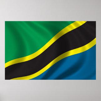 タンザニアの旗 ポスター