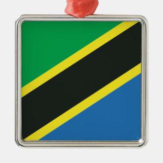 タンザニアの旗 メタルオーナメント