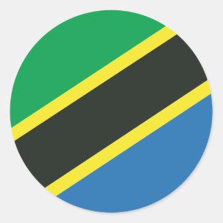 タンザニアの旗 ラウンドシール