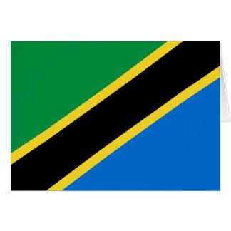 タンザニアの旗Notecard カード