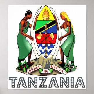 タンザニアの紋章付き外衣 ポスター