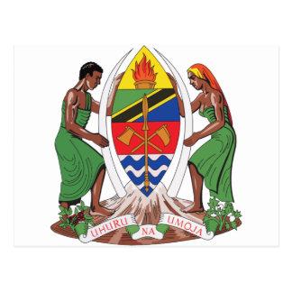タンザニアの紋章付き外衣 ポストカード