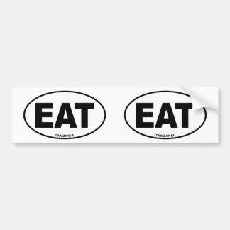 タンザニアは楕円形IDの識別コード[符号]のイニシャルを食べます バンパーステッカー