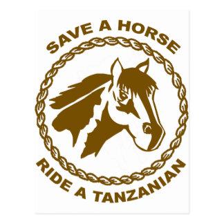 タンザニア人に乗って下さい ポストカード