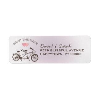 タンデム自転車の保存日付ラベル ラベル