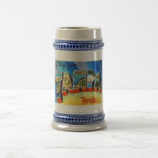 タンパフロリダFLの古いヴィンテージ旅行記念品 ビールジョッキ