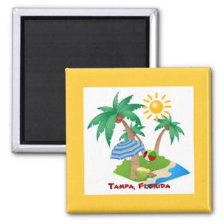 タンパ、フロリダ冷却装置磁石のテンプレート マグネット