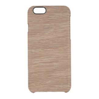 タンブラウンの自然なカシ木穀物の一見 クリアiPhone 6/6Sケース