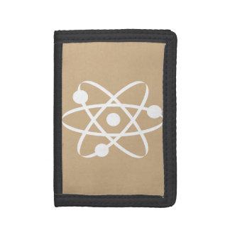 タンブラウン原子 ナイロン三つ折りウォレット