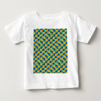 タンブラー#3の目の錯覚の歪む青か黄色 ベビーTシャツ