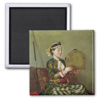 タンブリンを持つトルコの女性 マグネット