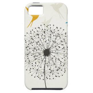 タンポポおよび鳥 iPhone SE/5/5s ケース