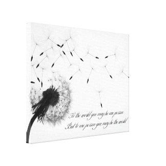 タンポポのインスピレーションのキャンバスのプリント キャンバスプリント