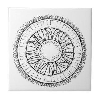 タンポポの花の曼荼羅 タイル