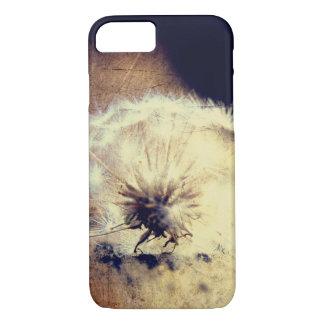 タンポポの電話箱、ブラウンの背景 iPhone 8/7ケース