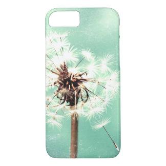 タンポポ、ミントの緑、電話箱 iPhone 7ケース