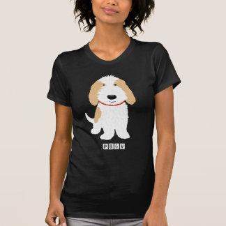 タン及び白いPBGV犬 Tシャツ