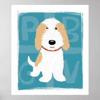 タン及び白いPBGV ポスター