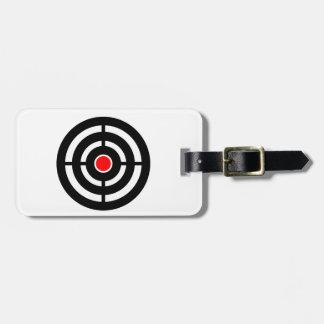 ターゲットの目-中心点のプリント バッグタグ