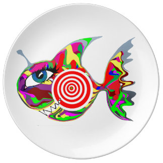 ターゲット魚プレート 磁器プレート