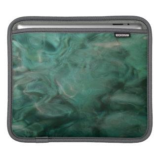 ターコイズおよび灰色の水中競技の抽象芸術 iPadスリーブ