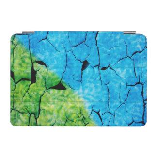 ターコイズおよび緑の模造のなパチパチ鳴る音のデザインカバー iPad MINIカバー