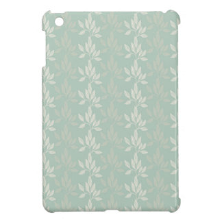 ターコイズおよび銀の花柄パターン iPad MINI CASE