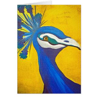 ターコイズおよび黄色い孔雀 カード