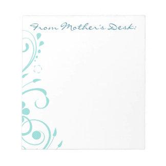 ターコイズによっては渦巻の母の日が開花します ノートパッド