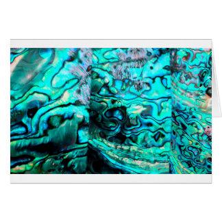ターコイズのアワビのpauaの貝の詳細 カード