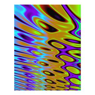 ターコイズのオレンジ緑の抽象芸術 レターヘッド
