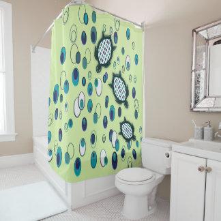 ターコイズのカメ37/1の真新しいシャワー・カーテン シャワーカーテン