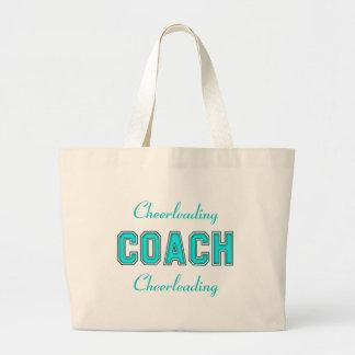 ターコイズのコーチ ラージトートバッグ