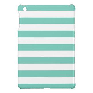 ターコイズのストライプなパターン iPad MINIケース