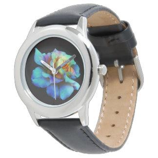 ターコイズのタイによって染められるバラの腕時計 腕時計