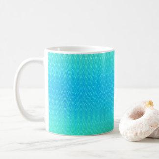ターコイズのティール(緑がかった色)の青緑の抽象芸術パターン コーヒーマグカップ