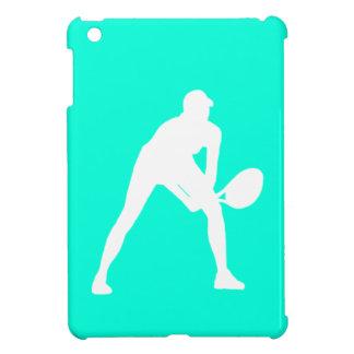 ターコイズのテニスのシルエットのiPad Miniケース iPad Mini Case