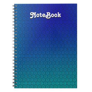 ターコイズのノートへのカスタムの抽象的な青 ノートブック