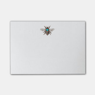 ターコイズのハートの自然のユニークで芸術的な蜂 ポストイット