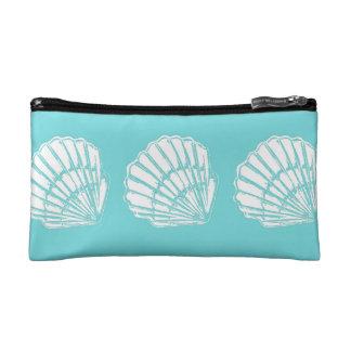 ターコイズのバッグが付いている貝殻 コスメティックバッグ